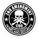10pcs 2nd Amendmentハード帽子ステッカー/ヘルメットラベルMotorcycle Gun権利デカール
