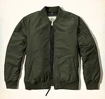(ホリスター)正規品 メンズ フライトジャケット MA-1 中綿 ブルゾン ミリタリー hollister 332-0830all (S, グリーン) [並行輸入品]