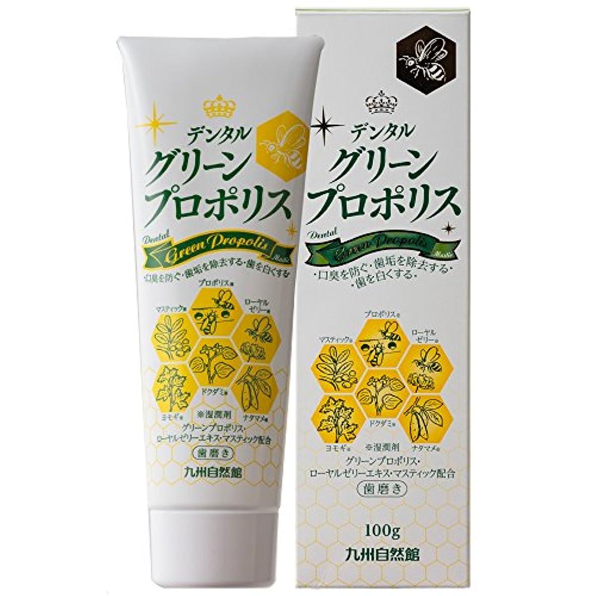 希少性石鹸正確やずやグループ九州自然館 デンタルグリーンプロポリス100g/約1ヵ月分