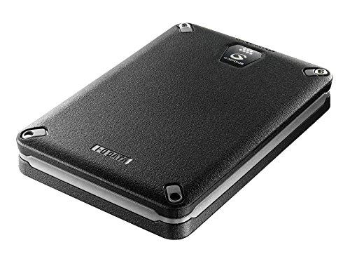 I-O DATA USB 3.0/2.0対応 Gセンサー搭載耐衝撃ポータブルHDD ブラック 1.0TB HDPD-AUT1.0KB