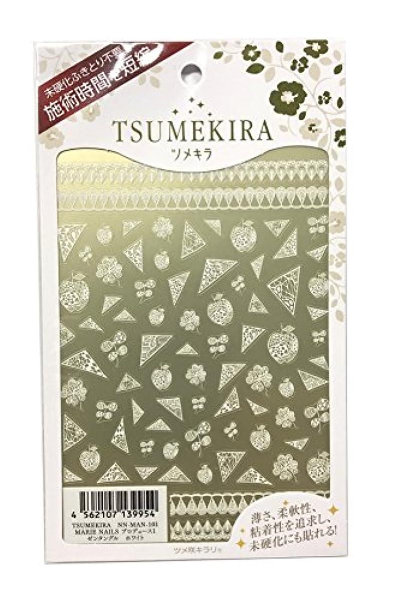 うめき声然としたミケランジェロツメキラ(TSUMEKIRA) ネイル用シール ゼンタングル ホワイト NN-MAN-101