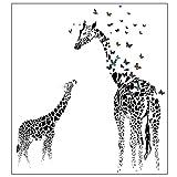 ウォールステッカー 動物 [キリン] おしゃれ 壁紙シール ウォールシール はがせる DIY 壁紙 シール