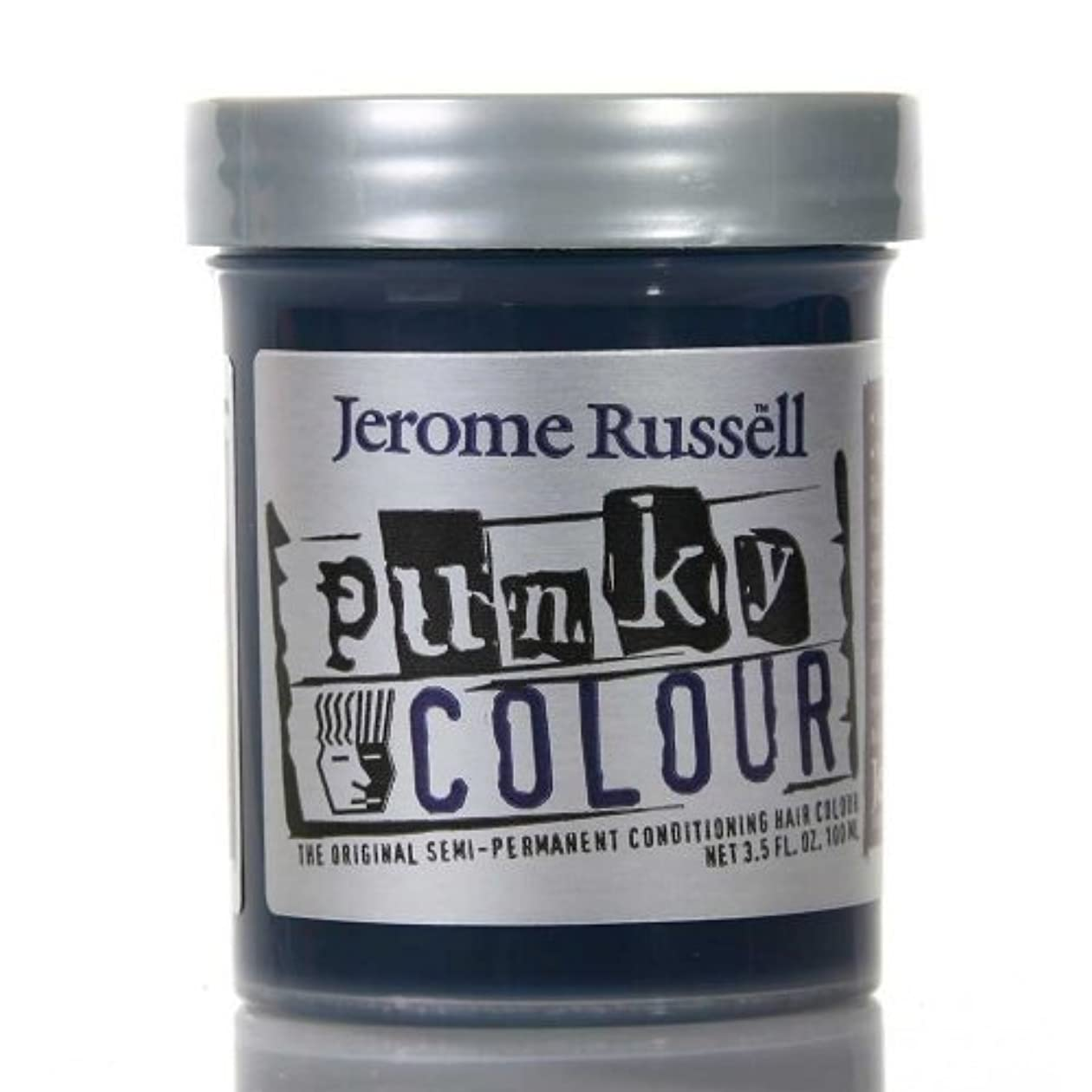 レスリング引き付ける代替案JEROME RUSSELL Punky Color Semi-Permanent Conditioning Hair Color - Midnight Blue (並行輸入品)