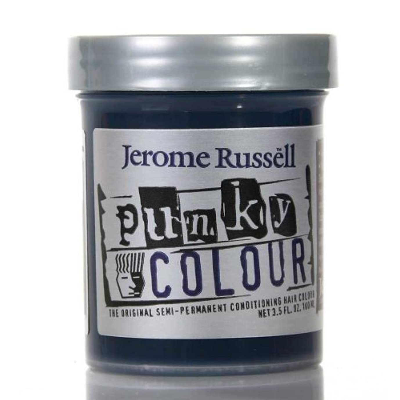 無限大悲観的抑圧者JEROME RUSSELL Punky Color Semi-Permanent Conditioning Hair Color - Midnight Blue (並行輸入品)