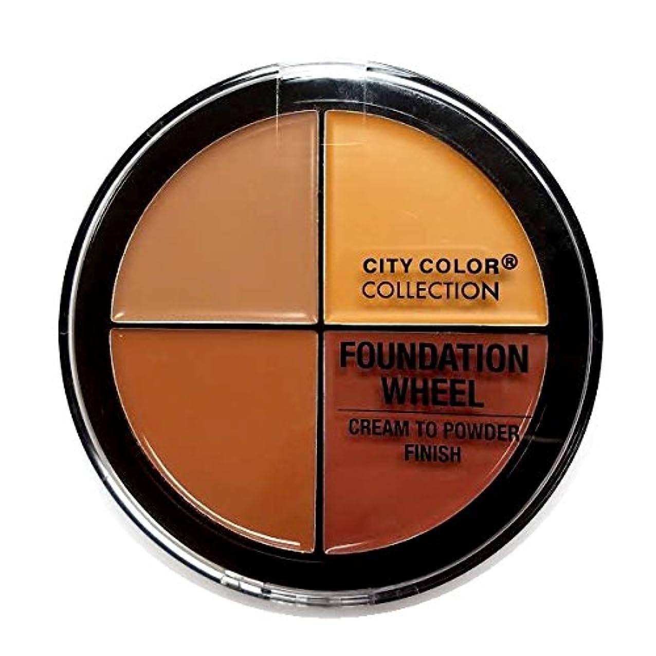 インテリア円形のカール(3 Pack) CITY COLOR Foundation Wheel - Medium to Deep (並行輸入品)
