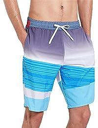マルチサイズ クイックドライサーフスイミングトランク メンズスイムトランクルーズビーチパンツ 軽量スウェットパンツ クールサマーパンツ ダブルポケット付き (サイズ : XXL)