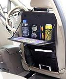 HONCENMAX シートバックポケット 車用収納ポケット キックガード 折りたたみ式テーブル 後部座席収納 防水防汚 多機能 大容量 小物収納袋 折り畳み式 取り付け簡単 汎用