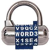 Master Lock 【正規輸入品】 ワード可変式南京錠 ブルー 1534JADBLU