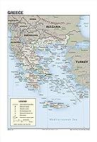 13x 19ギリシャ的な参照壁マップ[ Rolled ]