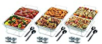 32-pc Chafer WarmingセットHolds 8 Dishes :ワイヤStands – Aluminum Pans – sternos – Serving Utensils