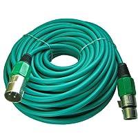 XLRオスtoメス3ピンマイクマイクlo-z拡張子ケーブルコードカスタム色 100ft グリーン 170-GRXLR-100