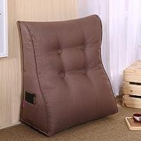 Lts ベッドサイド三角ウェッジ、背もたれクッション枕ソファ枕ウエストクッションマット取り外し可能な背もたれクッション (Color : D, サイズ : 45x50x25cm(18x20x10inch))