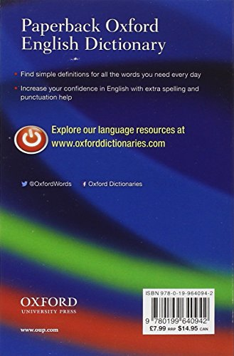 『Paperback Oxford English Dictionary 7/E』の1枚目の画像