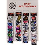 Viper Assorted 2D Glitter Dart Flights on Display Card: 40 Sets of Mixed (Standard and Slim) Flights, 120 Pieces