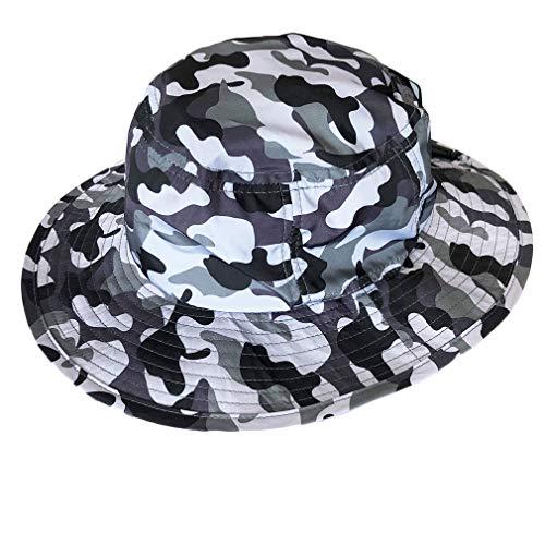 帽子 サファリハット レディース メンズ 撥水 UV ハット (グレーカモ, M)