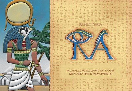 ラー (Ra) a challenging game of gods men and thier monuments ボードゲーム