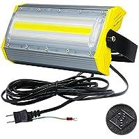 LED投光器,LED作業灯,50W/100W/150W/200W/300W/400W COBチップ 240度 看板灯 街路灯 駐車場灯 昼光色 防水 1年保証