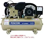 東芝 (TOSHIBA) エアコンプレッサー:給油式 VT105-7T (三相200V 50Hz)