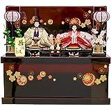 雛人形 五人飾り 収納箱飾り 黒溜塗 幅65cm [fz-104] ひな人形