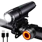 FARRIDE USB Rechargeable Bike Lights, 800LM Bike Headlight and Tail Light set, Ultra Bright CREE LED Bicycle Light Front and Back, Quick Release Cycling Safety Accessories for Road/Mountain/City Bikes