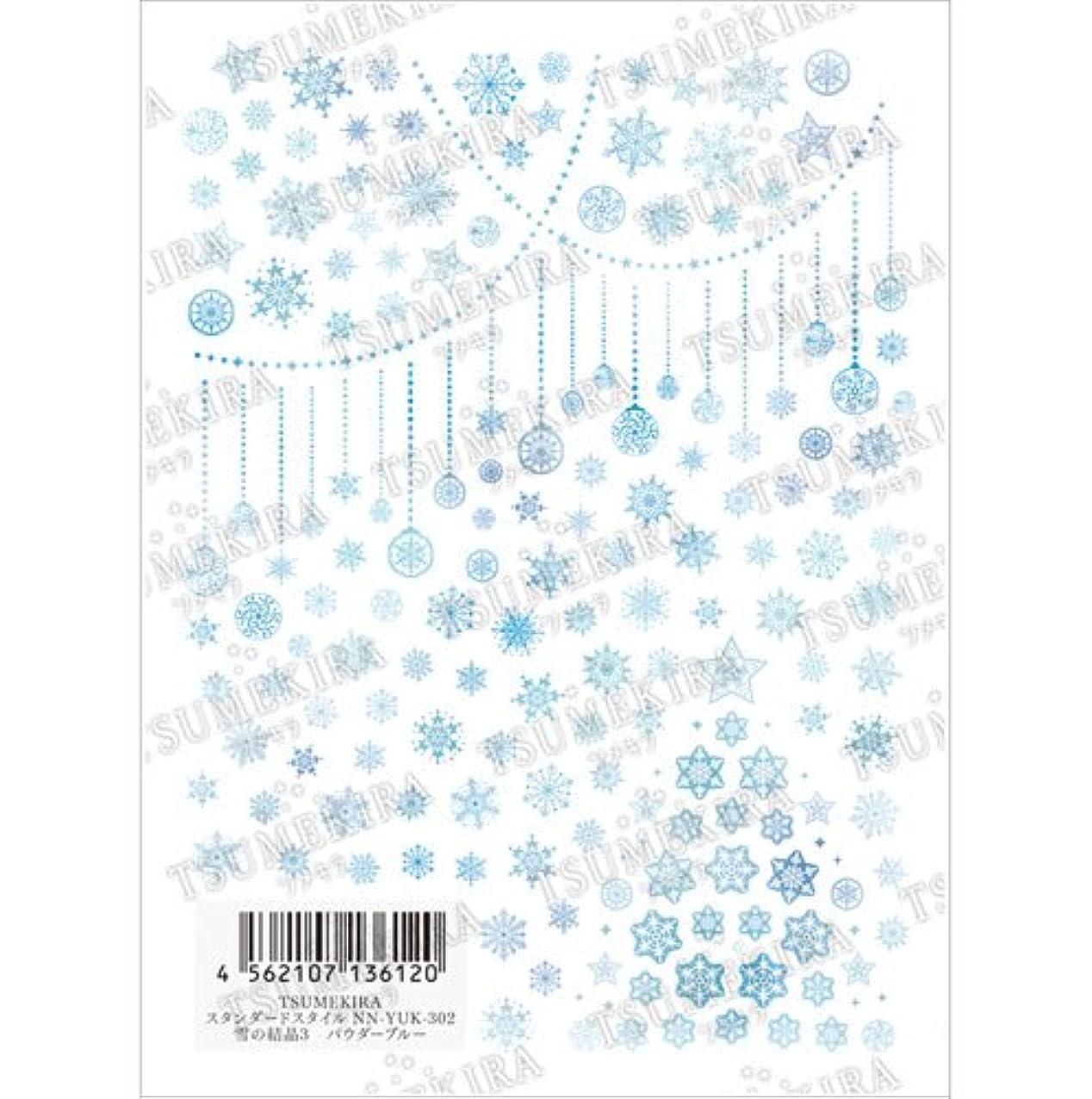 辞書本質的ではないと闘うツメキラ(TSUMEKIRA) ネイル用シール 雪の結晶3 NN-YUK-302