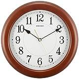 SEIKO CLOCK (セイコークロック) 掛け時計 アナログ 木枠 茶木地 KX603A