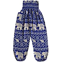 Love Quality Ladies Baggy Harem Pants Elephant Print Maternity Hippie Pants