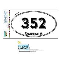 352 - タンジェリン, FL - フロリダ州 - 楕円形市外局番ステッカー
