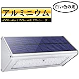 Best モーションセンサーライト - Licwshi 1100 Lm ソーラーライト 48LED 4500mAh防水 アルミ合金 人感センサーライト Review