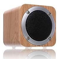 ZENBRE F3 Bluetooth4.0ウッドワイヤレススピーカー純粋な高音質【70mm大喇叭/ベース/SDカード】(ホワイト)