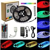 LED Strip Light 32.8ft(10m) RGB SMD 5050 LED Rope Lighting Color Changing Full Kit with 44-Keys IR Remote Controller for Kitchen, Bedroom, Bar, Party, TV Backlight