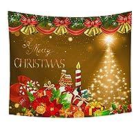 Amycute クリスマス タペストリー 壁掛け おしゃれ 欧米風 装飾布 壁飾り インテリア パーティー リビング 窓 お店 人気 新年祝い (150x130cm)