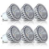 SGL LED 電球 GU10口金 LEDスポットライト 省エネ90% 6W、5000K 昼白色 480LM 埋め込み式照明 85-265V 「6個入」 長寿命