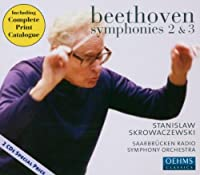 ベートーヴェン:交響曲第2番, 第3番「英雄」(ザールブリュッケン放送響/スクロヴァチェフスキ)