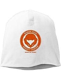 【Dera Princess】ユニセックス ニット帽 Samus Aran - Bounty Hunterロゴ コットン ニットキャップ 帽子 オールシーズン 被れる