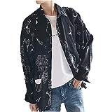 [Nyanny(ニャニー)] シャツ メンズ POP 柄シャツ Yシャツ 長袖 カジュアル トップス コットン ストレッチ