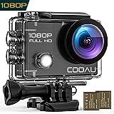 【進化版】COOAU アクションカメラ 1080P 高画質WIFI アクションカム 2インチ液晶画面 170度広角 2電池 水中カメラ 30M 防水カメラ サイクリング や ダイビングなど の スポーツに
