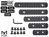 【5本セット】 MGPCQB製 M-LOK対応 ポリマー製 ピカティニー レール セクション 5種セット (5スロット 7スロット 9スロット 11スロット 13スロット) - BK ブラック