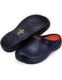 [YOWESHOP] コックシューズ 安全靴 作業靴 SW-08 ASTM認定 男女兼用 滑り止め 軽量 耐滑 耐油