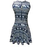 「開閉式 スクール水着スカートスタイルホットワンピース水着の股見えないジッパーファスナー 象を印刷」のサムネイル画像