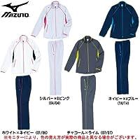MIZUNO(ミズノ) クロス 上下セット 86AS300/86AP300 レディース (シルバー×Dピンク(04/04), L)