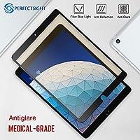 PERFECTSIGHT スクリーンプロテクター iPad Pro 10.5用 アンチグレア55%ブルーライトフィルター 指紋防止強化ガラス [ブラック]