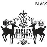 Miyinla ウォールペーパー サンタクロース  壁紙シール スノーフレーク クリスマス ウォールステッカー クリスマス ポスター ウォールシール  飾り  壁  DIY  PVC製 子供部屋 寝室 廊下 玄関 部屋飾り 北欧 お洒落 ホーム デコレーション かわいい 壁紙 はがせる