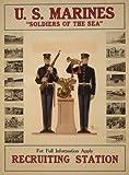 ポスターの写真を囲まれてと2つのモンキーで服表示するライフルであったため、ビューグルMarine Lifeを使用することができます。ソース: Library of Congress ,印刷&写真部、第一次世界大戦ポスターに使用してください。