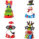 パーティー帽子クリスマスサンタクロース用紙帽子パーティー用品クリスマスHoliday星印刷Xmasキャップギフト