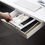 Under Desk Drawer,Desk Organizer,Hidden Self-Adhesive Pencil Tray Drawer, Large