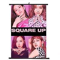 Hippyt KPOP 韓流 BTS 防弹少年団 「SQUARE UP」 スクロールポスター 写真 ポスター 応援グッズ A4サイズ 混紡布 かわいい 二点セット H02
