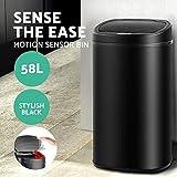 58L Motion Sensor Rubbish Bin Waste Automatic Trash Kitchen Office Black