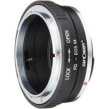 K&F Concept レンズマウントアダプター KF-FDEM (キャノンFDマウントレンズ → キャノンEF-Mマウント変換)絞りリング付き