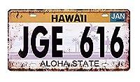 秋月貿易 メタルプレート ナンバープレート アンティーク な ブリキ の 看板 JGE 616